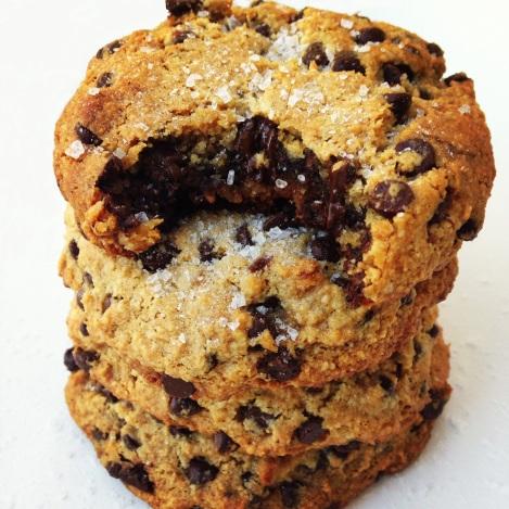 Paleo Sea Salted Nutella Stuffed Cookies