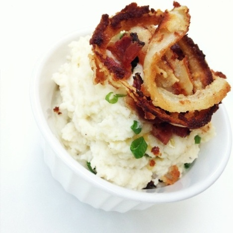 Paleo Loaded Mashed Cauliflower
