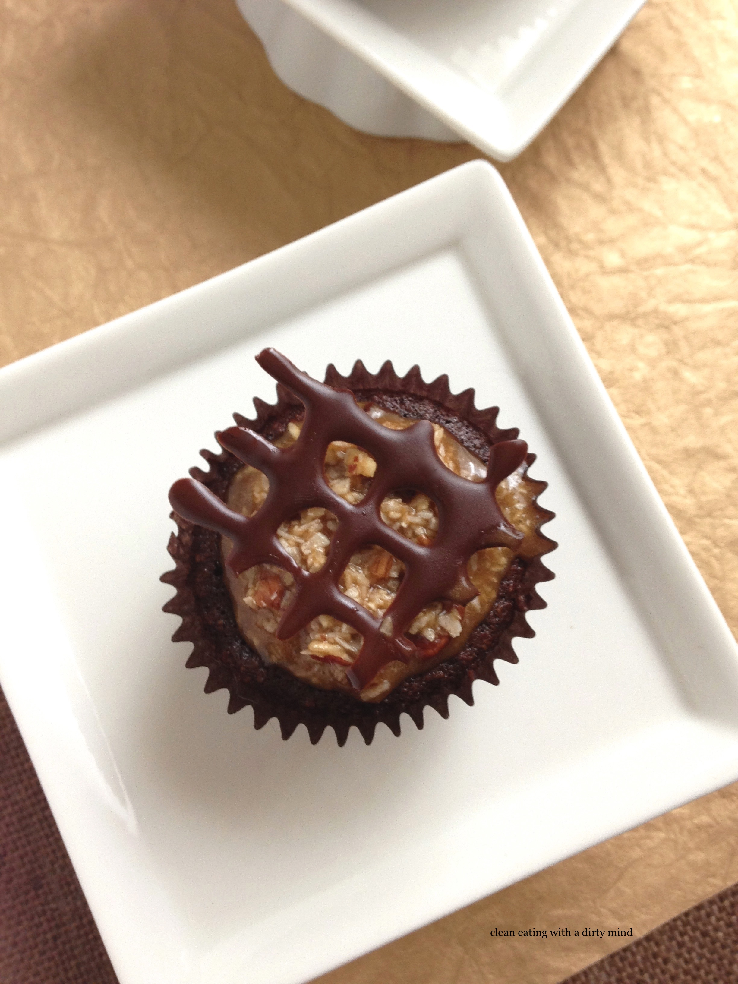 Say Guten Tag to these Paleo German Chocolate Cupcakes! | Clean Eating ...