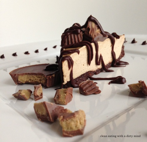 Paleo Reese's Cheesecake with Fauxreo Crust