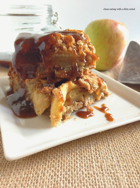 Paleo Caramel Apple Pie Bars