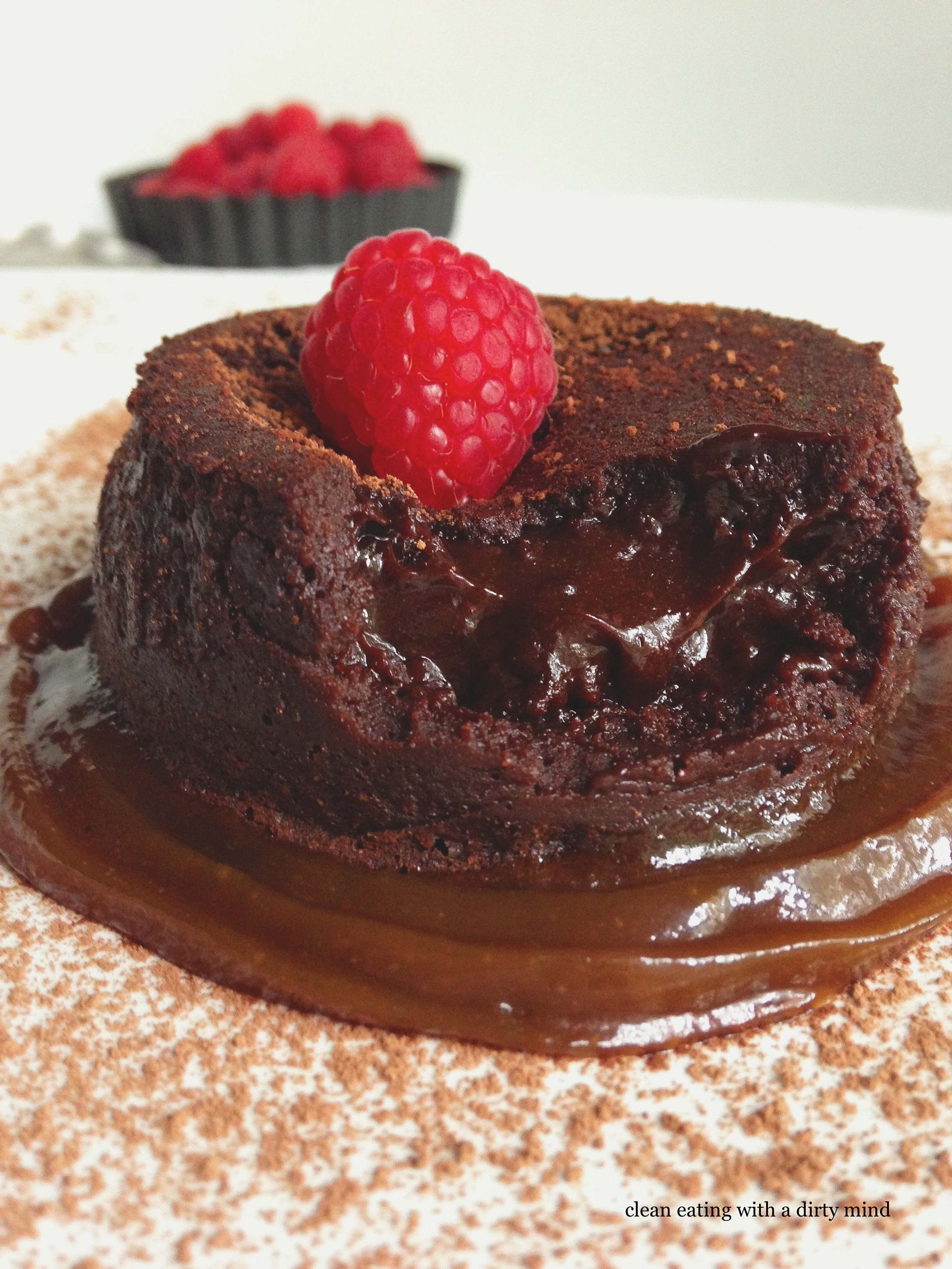 Paleo Molten Chocolate Lava Cake | Clean Eating with a Dirty Mind