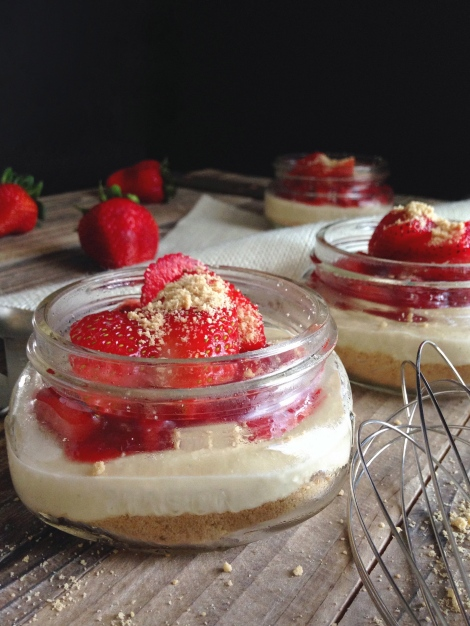 Strawberry Cheesecake Jars 5